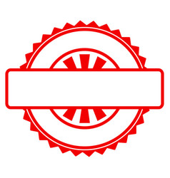 seal stamp template flat icon vector image vector image