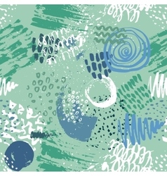Seamless pattern with hand drawn abstract ink vector