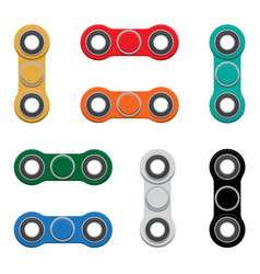 Set of -spinner new popular anti-stress toy vector