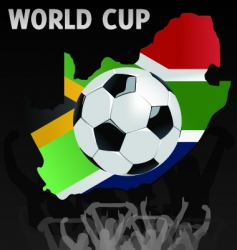south African world cup vector image vector image
