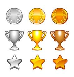 Sport awards set vector