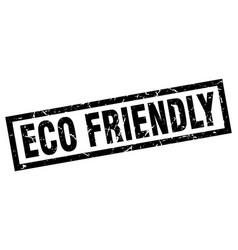 Square grunge black eco friendly stamp vector