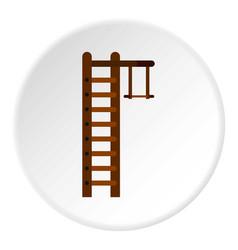 swedish ladder icon circle vector image