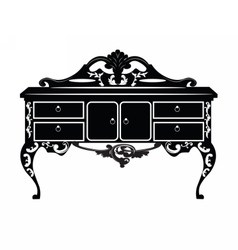 Vintage baroque rich commode vector