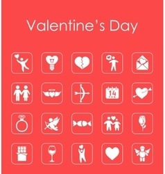 Set of valentines day simple icons vector