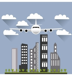 Flying airplane image vector