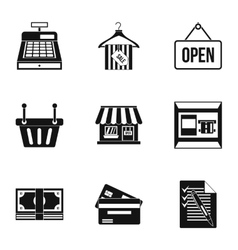 Online purchase icons set simple style vector