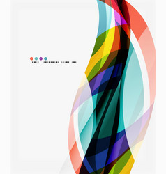 modern geometric wavy shapes on light vector image