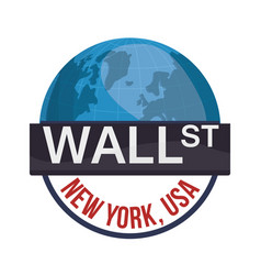 wall street new york world investment vector image