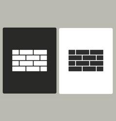 Brick wall - icon vector