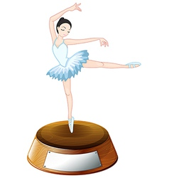 A ballerina dancer above the empty label vector