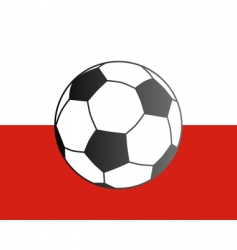 Flag of poland and soccer ball vector