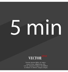 Five icon symbol flat modern web design with long vector