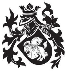 Heraldic silhouette no25 vector