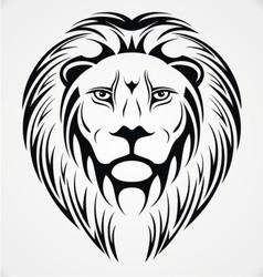 Lions Head Tattoo Design vector image
