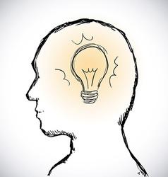 human profile vector image