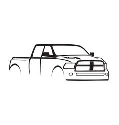 4th gen ram crew cab 3500 hd sport hood silhouette vector