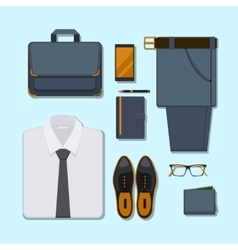 Business man casual outfit vector