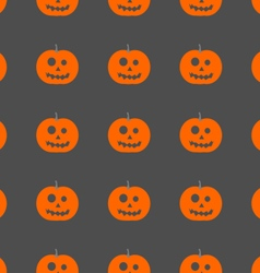halloween pumpkin pattern background vector image