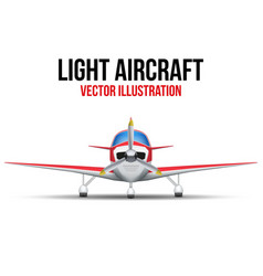 Civil light aircraft vector