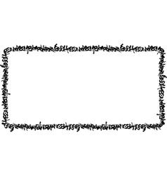 Rectangular frame black graffiti tag pattern vector