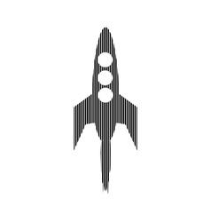 Starting rocket sign vector image