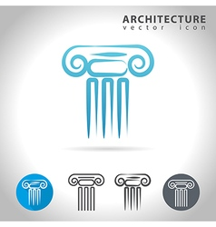 Architecture blue icon vector