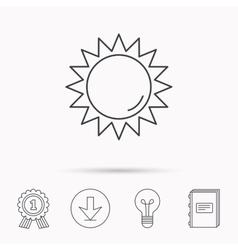 Sun rays icon summer sign vector