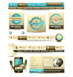 Vintage headers vector