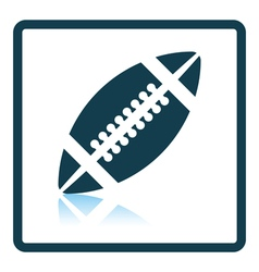Icon of american football ball vector