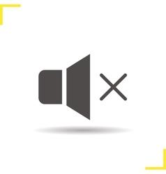 Sound off icon vector