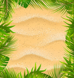 Beautiful frame with sandy texture and exotic vector
