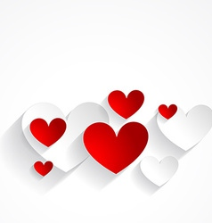 Beautiful hearts isolated in white background vector