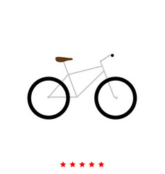 Bicycle it is icon vector