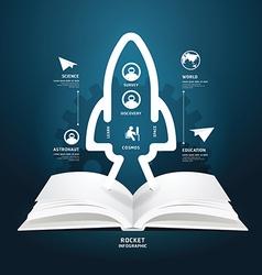 Book diagram creative paper cut aerospace vector