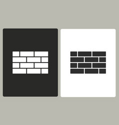 brick wall - icon vector image