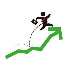 Business men growing statistics vector