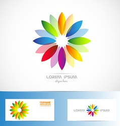 Colors flower logo vector
