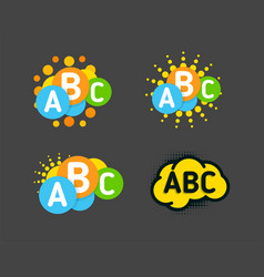 Creative children colorful brain with abc signs vector