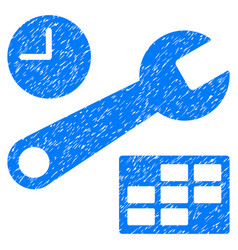 Date and time setup grunge icon vector