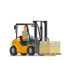 forklift lift truck warehouse logistic storage vector image
