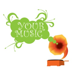Gramophone2 27 vector image vector image