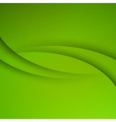 Green Abstract background with curves lines vector image vector image
