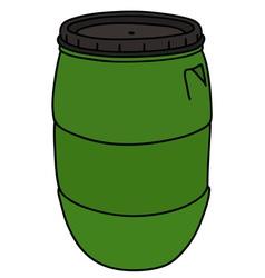Green plastic barrel vector