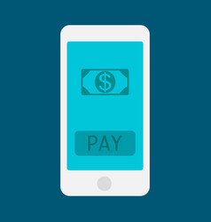 hand holding smart phone and earning money stack vector image
