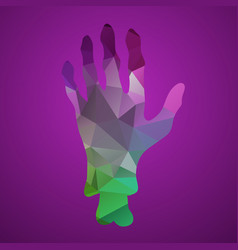 hand of triangles vector image vector image
