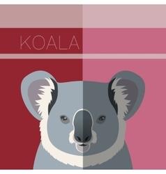 Koala flat postcard vector image