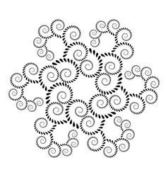 Laurel wreath tattoo icon floral spiral twirl vector