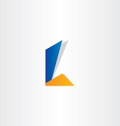 letter l symbol design vector image
