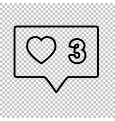 Like and comment sign vector image vector image